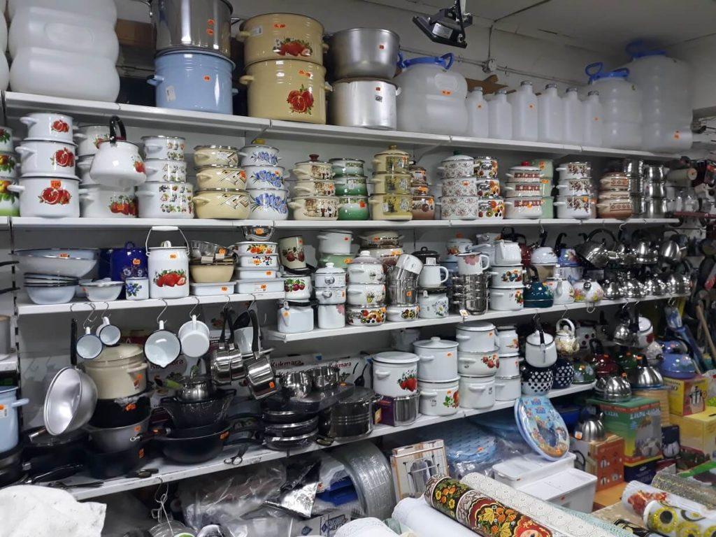 Хозяйственные товары в Коврове: посуда, сковородки, крышки, кастрюли, тазы, чайники