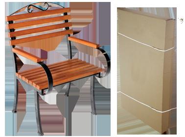 Металлическое кресло Романтика на металлических ножках