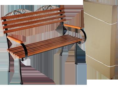 Садовая скамейка Романтика 1,2м