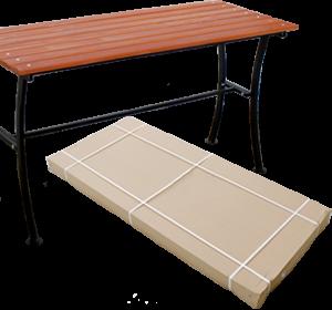 Металлический стол Романтика 1,6м.