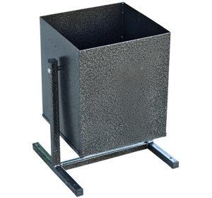 Квадратная металлическая урна для мусора 25 л.