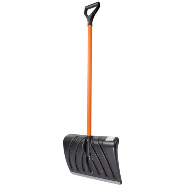 Лопата для уборки снега с металлическим черенком Крепыш Цикл