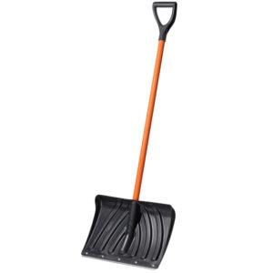 Снеговая лопата со стальным черенком и ручкой Крепыш фото Ковров