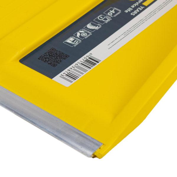 защитная металлическая планка на пластиковый ковш для скрепера Цикл