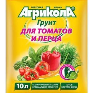 Грунт Агрикола для томатов и перцев ГРИН БЭЛТ 10 литров