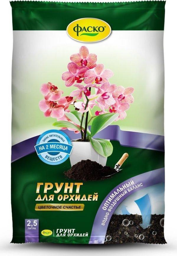 Грунт для орхидей Цветочное счастье 2,5 литра Фаско