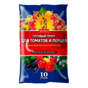 Готовый грунт для томатов и перцев Агроном 10 литров Ковров