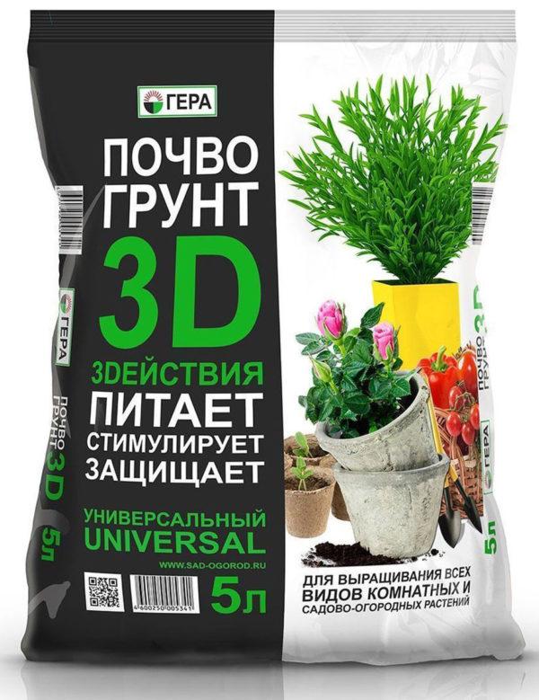 ПочвоГрунт ГЕРА 3D действия 25 литров