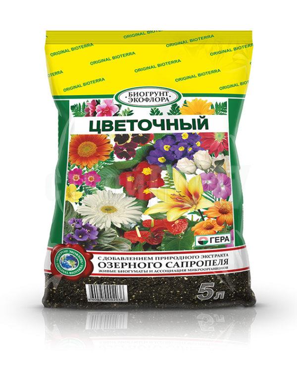 Грунт Гера БИО Цветочный 5 литров