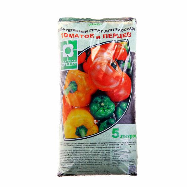 Грунт питательный для рассады5 л томаты и перцы Гусь Хрустальный