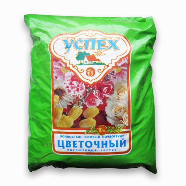 Почвогрунт Успех цветочный универсальный 10 литров