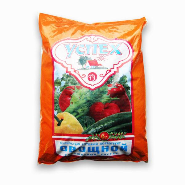 Готовый грунт Успех Овощной Универсальный 5 литров