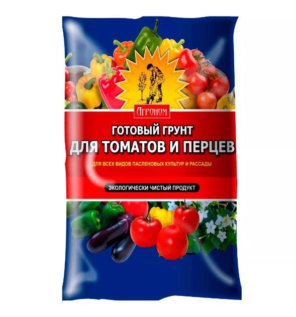 Грунт Агроном для томатов и перцев 5 литров Ковров