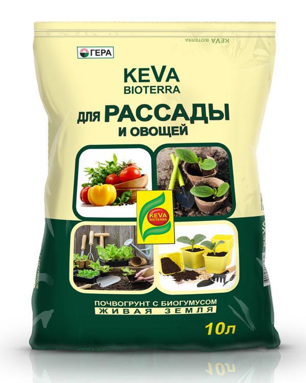 Почвогрунт KEVA BIOTERRA для Рассады и Овощей 10 литров в Коврове