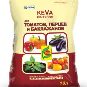 Грунт для томатов и перцев 10 литров KEVA BIOTERRA