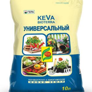 Почвогрунт KEVA BIOTERRA Универсальный 10 литров ГЕРА